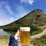 天狗山荘にて生ビール、これぞ人生の醍醐味