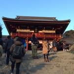 無事に鶴岡八幡宮に到着。今年もお世話になりました。