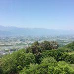 あずみのじゃない方のアルプス公園(松本市)、展望台からの眺め