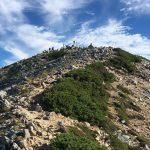 鷲羽岳山頂付近。