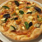 夏野菜のピッツァ。