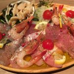 魚介のカルパッチョであります。美味!