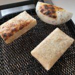 ファームガーデンたそがれの杵搗き玄米餅と、さんべ農園のえごま餅。