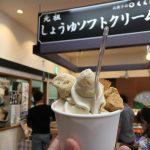 しょうゆソフトは鉄板、醤油マカロンも美味しかった! 安藤醸造北浦本館にて。