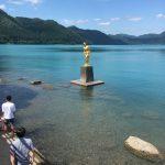 あなたが落としたのは、金のたつこ像ですか? 銀のたつこ像ですか? 田沢湖にて。