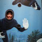 うみの杜水族館にて、この鏡面顔ハメやばいww