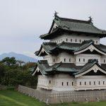 弘前城と岩木山