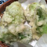 ばっけの天ぷら…春ですねぇ