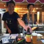 松本ブルワリーのキッチンカー。いい笑顔!!!