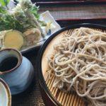 天ざる「安曇野」、コシアブラにコゴミにウド、レンコンズッキーニエノキカボチャの天ぷら最高!! もちろんお蕎麦も美味しかったです!