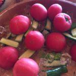 栗駒山荘の朝食、まるトマト復活! 皮が柔らかく甘い〜