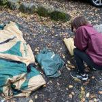 テントを持ってきたつもりがタープでしたww 登山用テントでムリヤリ就寝←意外と大丈夫だった