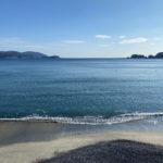 ホテルはまぎくの目の前にある浪板海岸。だいぶ砂浜が戻ってきました